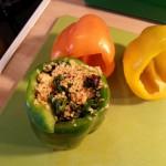 Gefüllte Paprikaschote (vegan): Paprikas füllen