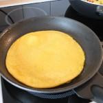 Bauernfrühstück (vegan): Omelett braten