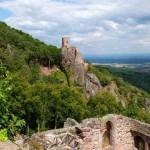 Château du Saint-Ulrich, Blick hinüber zu Château du Girsberg