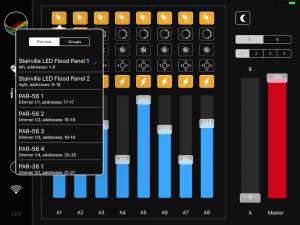Mixing View - select fixtures